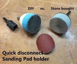 DIY Sanding pad holder