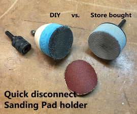 DIY Sanding pad holder