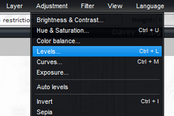 Picture of Use Levels to Adjust the Softness