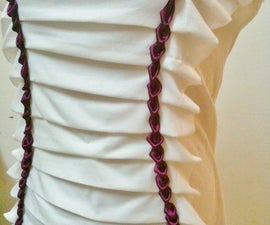 Pleated T With Pretty Purple Tulip Trim