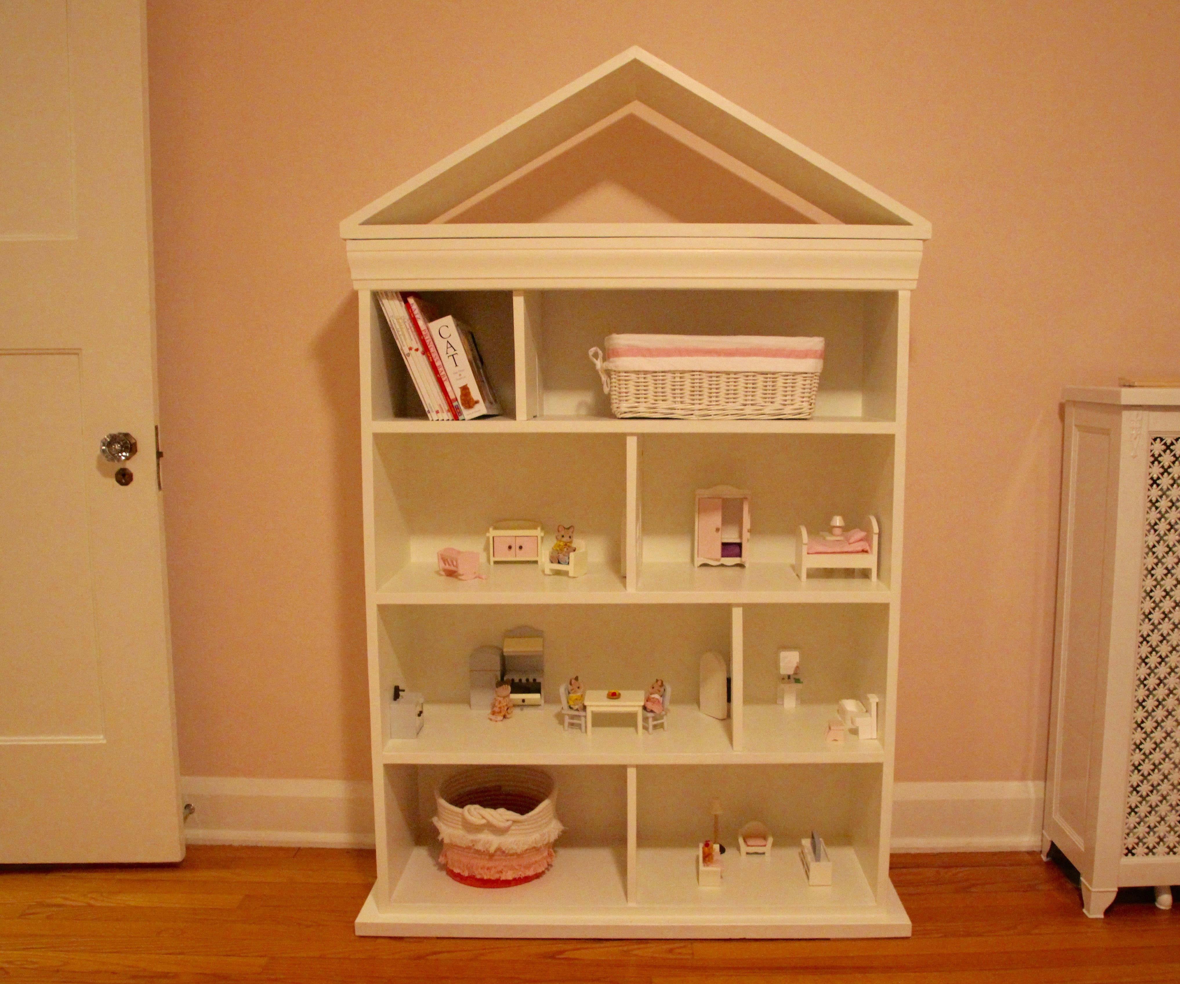 Dollhouse Bookcase 14 Steps With Pictures