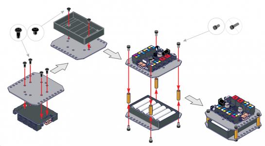 Construire Support De Pile Et Support Micro-contrôleur.