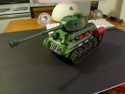Cardboard Electric T34-88 Tank Model As Seen in World of Tanks Game.