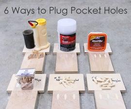6 Ways to Plug or Fill Pocket Holes