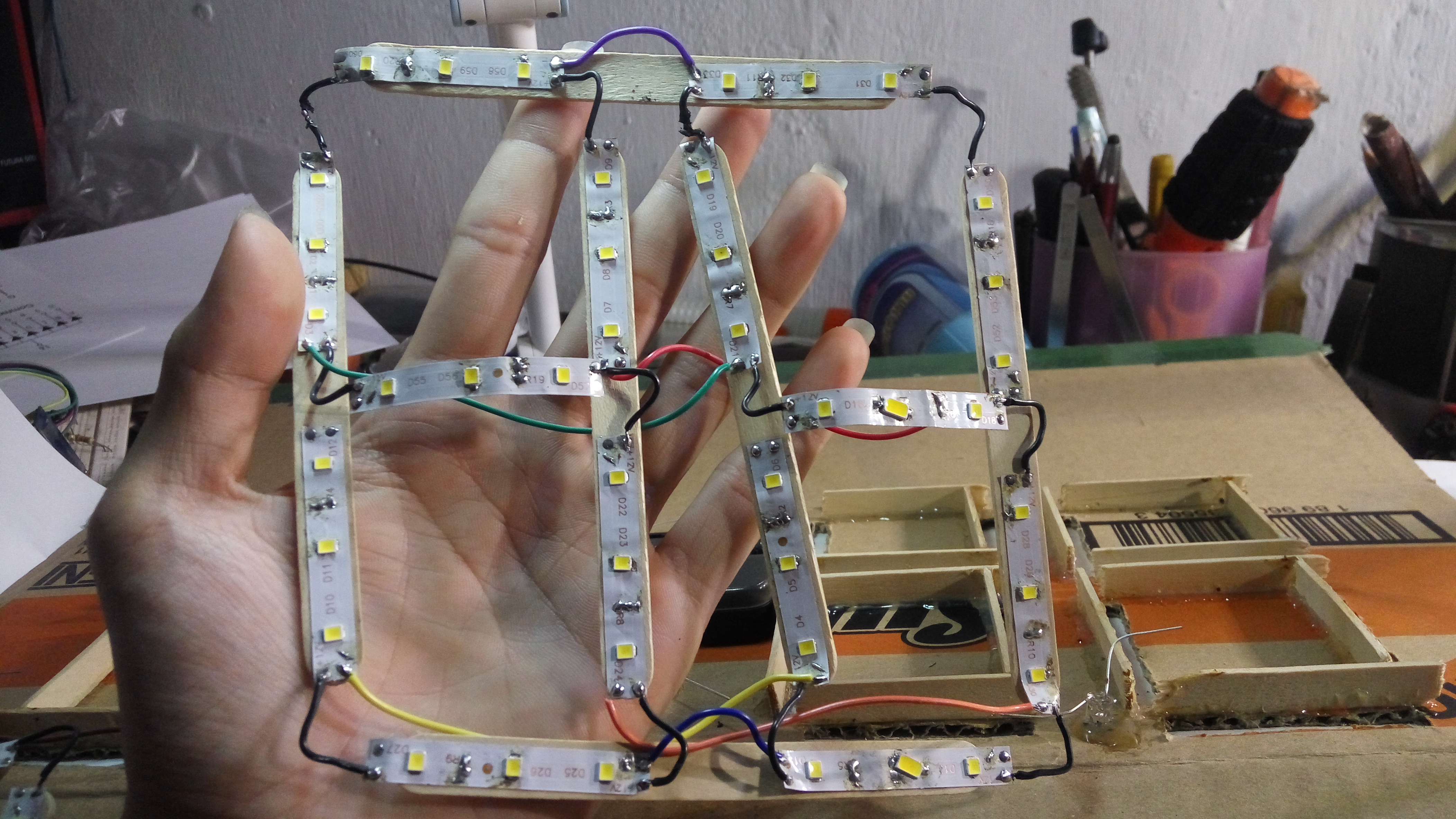 Picture of Wiring Up the LEDs First!