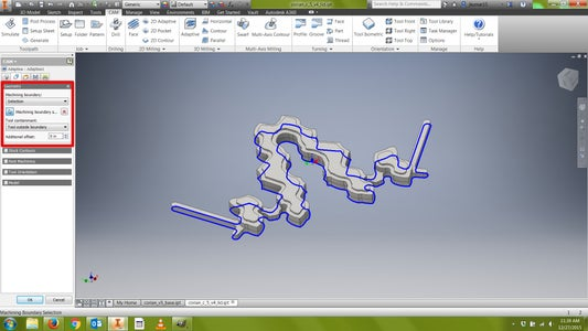 CAM: Toolpath (Adaptive)