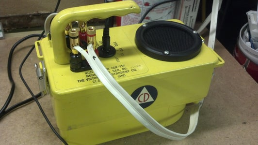 CDV-717 Civil Defense Radiation Survey Meter Converted to a Portable HIFI Amplifier.