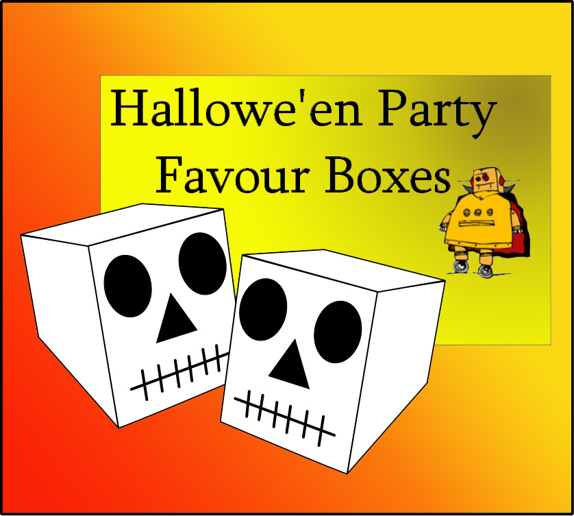 Picture of Halloween Skull Party Favour Box