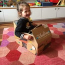 Makedo Car From a Sun Basket Box