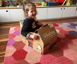 Makedo Car From a Sun Basket Box