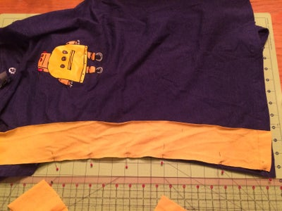 Sew the Panels to the Shirt