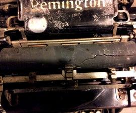Renewing an Old Typewriter Platen