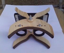 DIY virtual reality 3D glasses