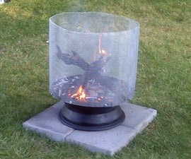 Fire Pit From a Satellite Dish