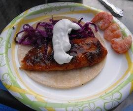 Spicy Citrus Fish Tacos (Cedar Plank)