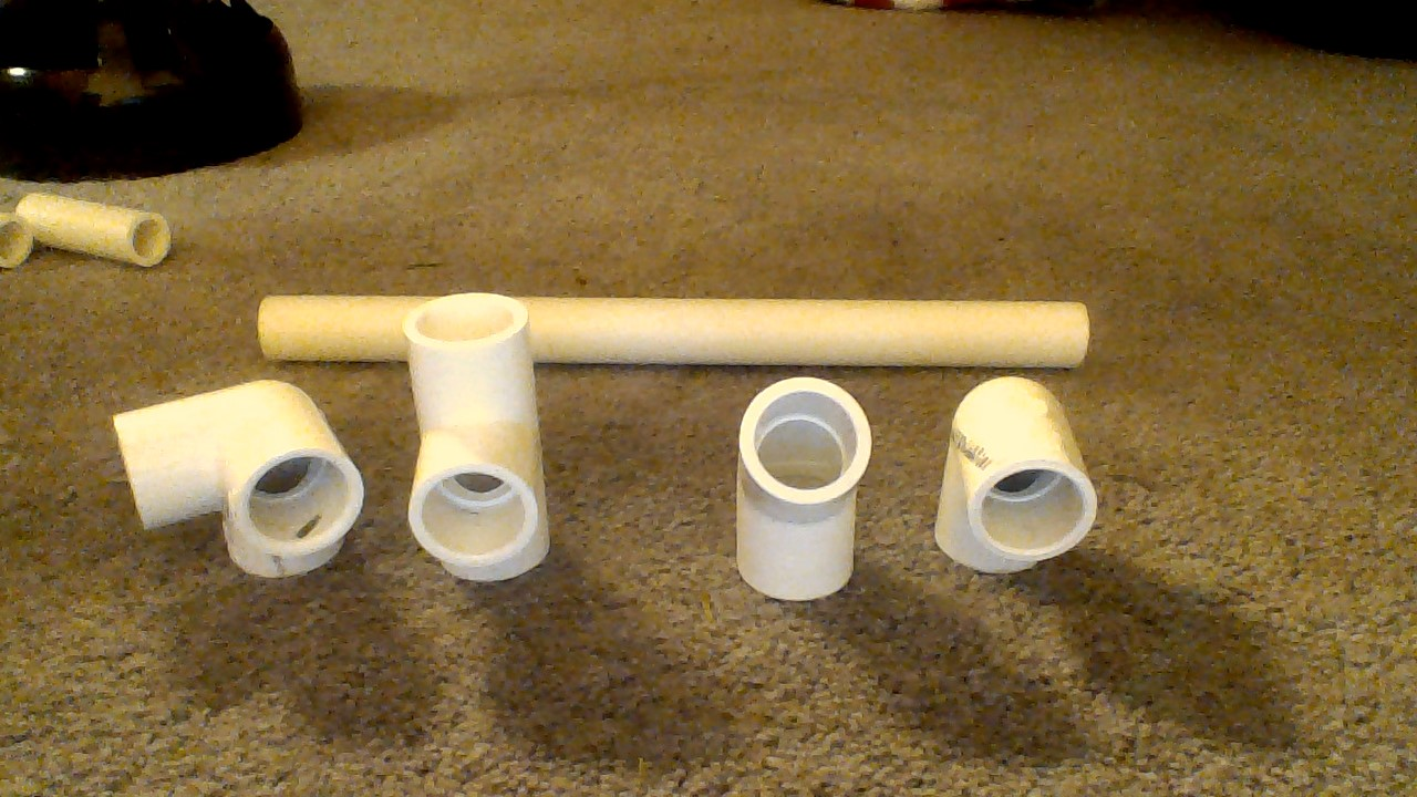 Picture of How to Create the Letters V and P Out of PVC Pipe