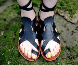 Leather Octopus Sandals