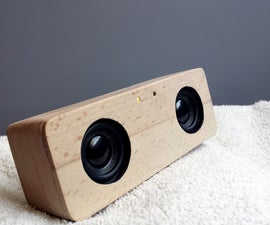 Portable Bluetooth Speaker Made From Scrap Wood