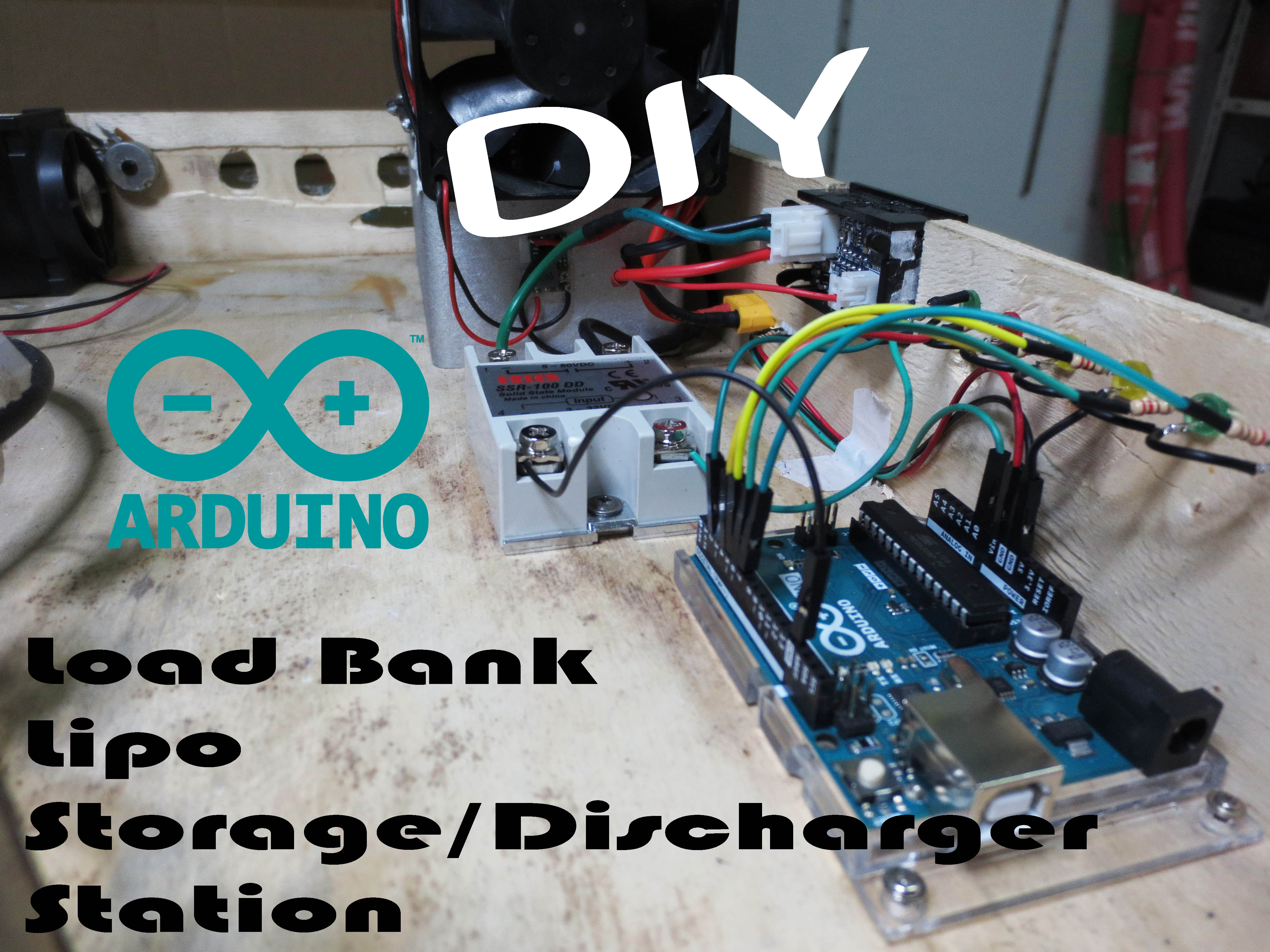 Picture of DIY Arduino Load Bank Lipo Storage/Discharger Station