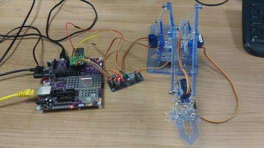 Controlling a Robotic Arm Using the Creator Ci40
