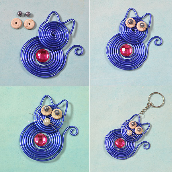 Picture of Decorate the Wire Wrapped Cat