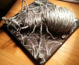 Big spider with wire