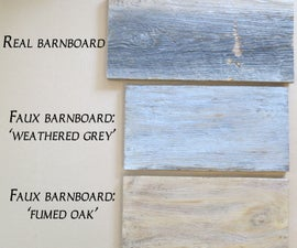 Faux Barn Board Using Milk Paint!