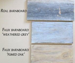 Faux Barn Board Using Milk Paint!