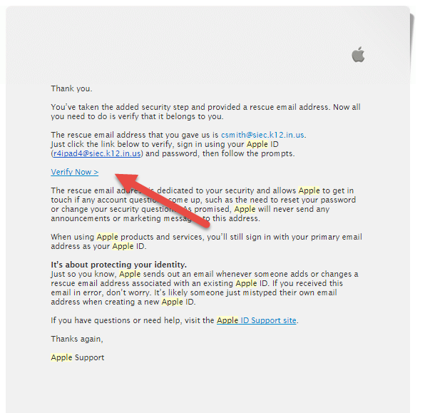 Picture of Verify Your Child's Apple ID
