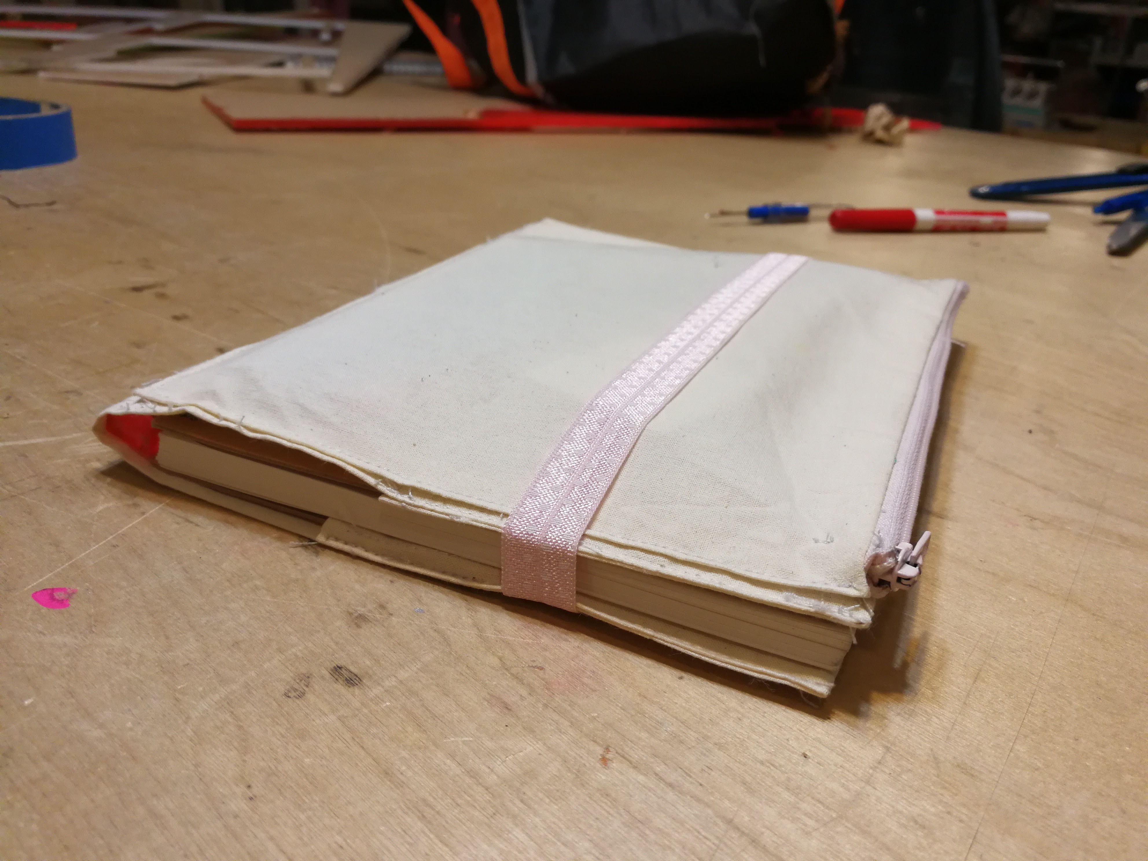 Picture of Notebook Cover With Zip Pouch