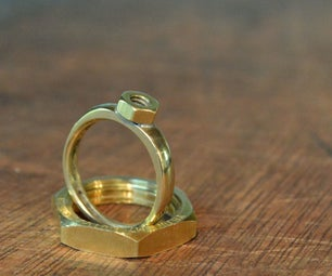 Brass Hex Nut Ring for $1!