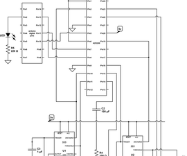 MIDI controlled analog FM synthesizer