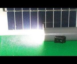 DIY Flashlight Free Energy by Solar Panel