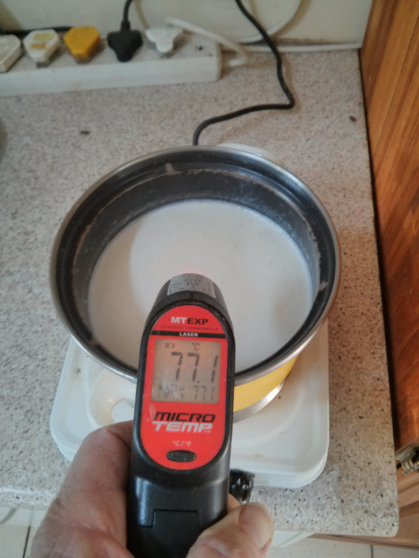 Picture of Heating the Milk.