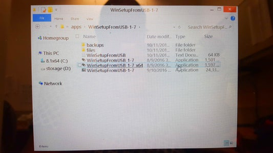 Using WinSetupFromUSB