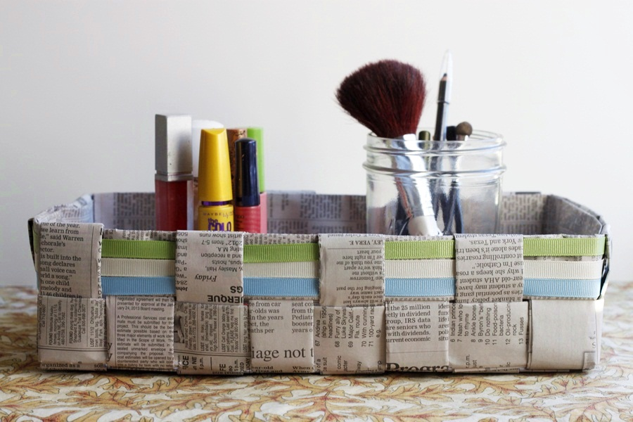 Picture of How to Make a Woven Newspaper Basket