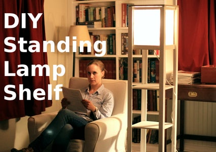 DIY Standing Lamp W/ Shelves