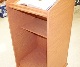 Homemade Wood Lectern Podium