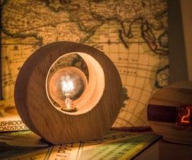 Tiny Oak Ring Lamp