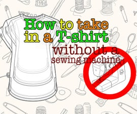 How to Take in a T-shirt (without a Sewing Machine)