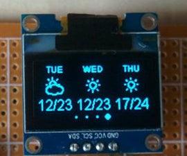 ESP8266 Weather Widget