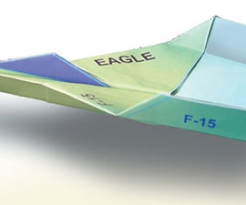 HOW TO MAKE F-15 EAGLE PAPER PLANE