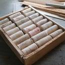 A quick and rustic wine-cork board
