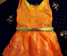 Dress From Plastic Bags