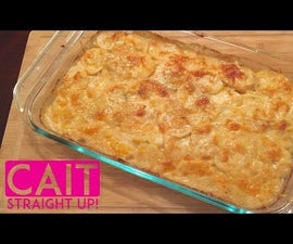 French Onion Potatoes Au Gratin - Homemade Scalloped Potatoes