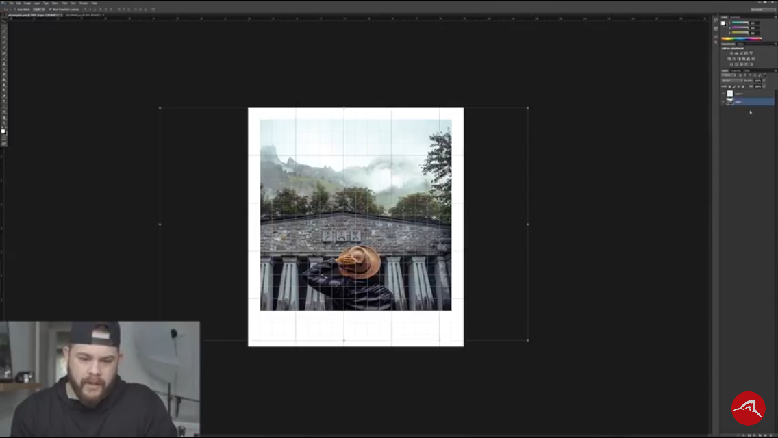 Picture of Drag an Image in and Layer It Underneath the The Polaroid Frame You Just Made, Keep Adjusting the Image File Until It Fits in the Frame