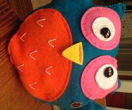 Athena the Owl Pillow Nightlight-Lilypad Arduino