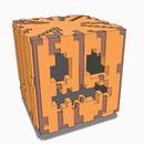 Minecraft 3D Jack-O-Lantern