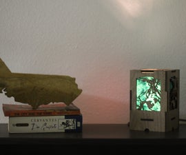 Press Fit Wooden World Tree Lantern in Walnut