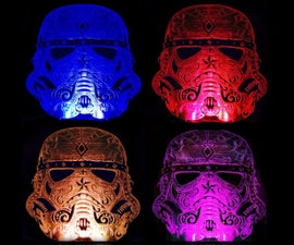Sugar skull stormtrooper nightlight